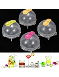 Want 4Pcs Plastic Round Ice Cube Ball Brick Freeze Tray Sphere Molds compare
