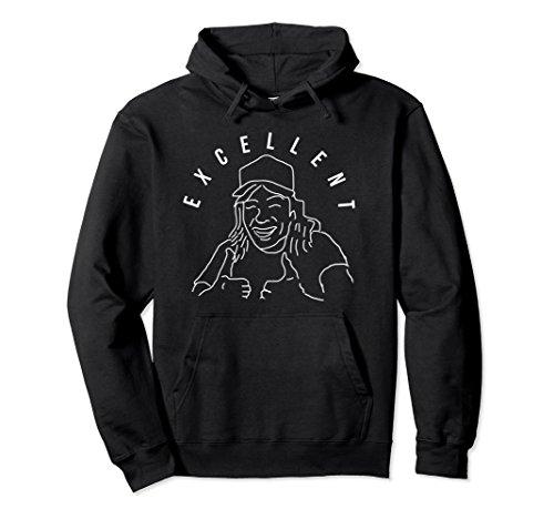 Unisex Excellent 80s Rock and Roll Comedy Hoodie Sweatshirt 2XL - World Hair Waynes