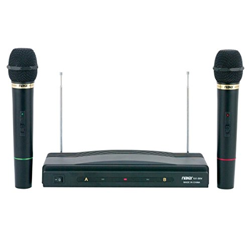 Esaska(TM) BRAND NEW - Naxa Nam-984 Professional Dual Wireless Microphone System