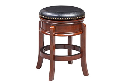 Boraam 43924 Hamilton Counter Height Swivel Stool, 24-Inch, Cherry - 24 Black Cherry Counter