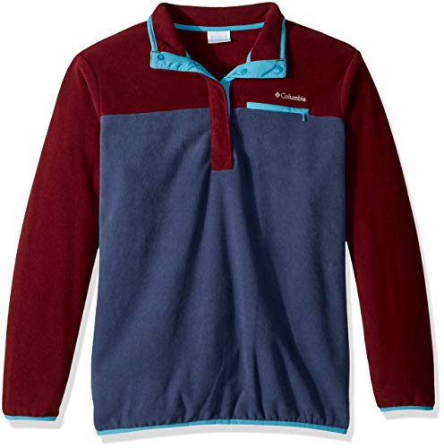 (Columbia Mountain Side Plus Size Pull Over Fleece, 2X, Rich Wine/Nocturnal)