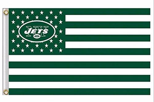 NFL New York Jets Stars and Stripes Flag Banner - 3X5 FT - USA FLAG