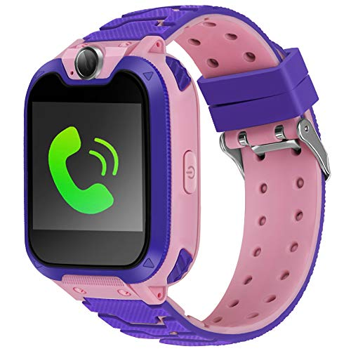 Kids Smart Watch Kid Phone Watch with Games Kids Calling Watch 1.54 inch HD Color Touch Screen with Digital Camera MP3 Music Player Holiday Birthday Gift for Girls Boys 2019 New Version. (Pink)