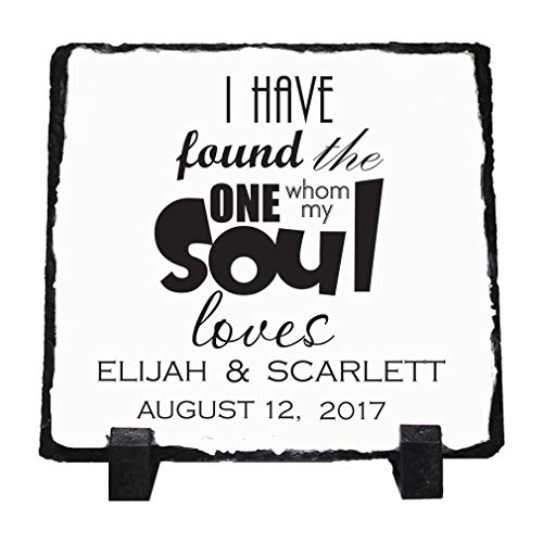 (Personalized Custom Text Found one My Souls Loves Stone Slate Plaque Picture)