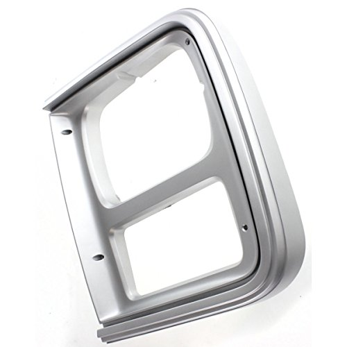 Diften 630-A0089-X01 - New Headlight Door/Bezel Driver Left Side Argent Express Van SaVana Chevy LH