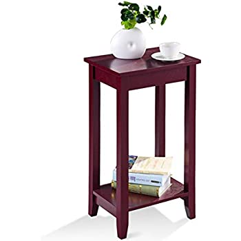 Amazon Com Dhp Rosewood Tall End Table Kitchen Amp Dining