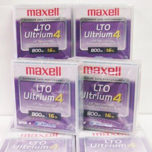 Maxell 183906 10-Pack LTO Ultrium 4 Tape Cartridge LTO-4 800GB (Native) / 1.6TB 120 Transfer Rate by Maxell