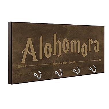 Alohomora Key Holder, Brown Color, Harry Potter Inspired Key Holder, Harry Potter Wall Art