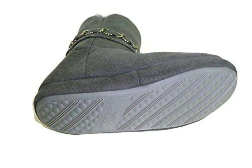 Le Donne Materiali Della Ragazza, S Amano Pantofole Di Stivaletti Di Eco-pelliccia Grigio 6