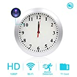 AMCSXH HD 1080P WiFi Hidden Camera Wall Clock Spy Camera with Motion Detection