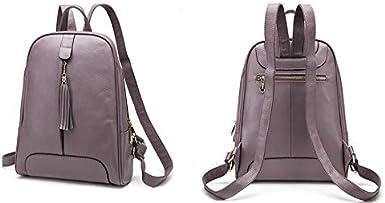 Women Leather Backpack Purse Ladies Waterproof Fashion Daypacks Genuine Leather Laptop Backpack with Tassels