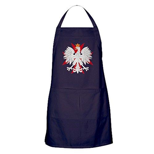 CafePress - Polish Eagle Red Maltese Cros Apron (Dark) - 100% Cotton Kitchen Apron with Pockets, Perfect Grilling Apron or Baking Apron