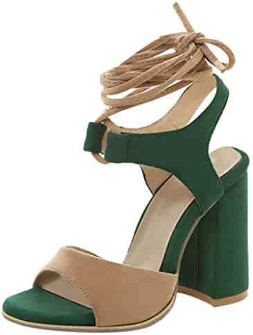 70e2c3a35e6b2 Shopping 8.5 or 14 - Green - Heeled Sandals - Sandals - Shoes ...