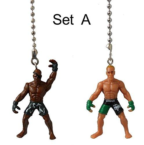Set of 2 - WRESTLER wrestling champion man champ fighter Ceiling FAN PULL light chain ornament decor (Set A)