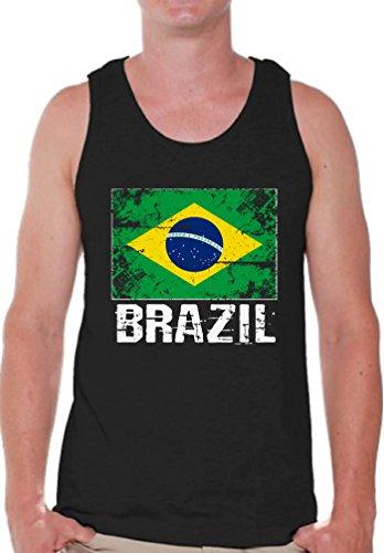 - Pekatees Brazil Tank Top for Men Brazil Muscle Shirt Brazilian Soccer 2018 Shirt Black S