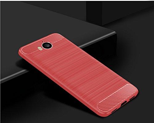Funda Huawei Honor 6 Play,Funda Fibra de carbono Alta Calidad Anti-Rasguño y Resistente Huellas Dactilares Totalmente Protectora Caso de Cuero Cover Case Adecuado para el Huawei Honor 6 Play D