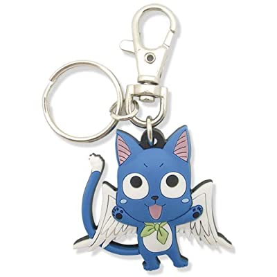 Great Eastern Entertainment Fairy Tail SD Happy PVC Keychain: Toys & Games
