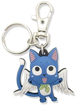 Great Eastern Entertainment Fairy Tail SD Happy PVC Keychain