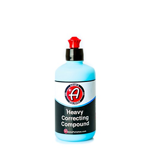 Adam's Polishes NEW Heavy Correcting Compound 8oz - Silicone-Free, Body Shop Safe, Low-Dust Formula - Heavier-Cut for Faster, Stronger Correcting