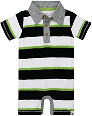Baby Boys' Organic Cotton Polo Shortall