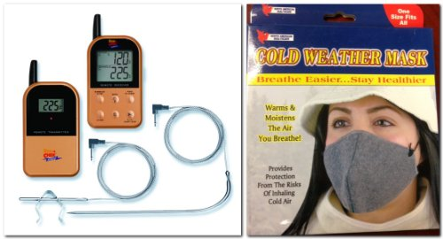 Probe Mask (Maverick ET732 Long Range Wireless Dual 2 Probe BBQ Smoker Meat Thermometer Set + Cold Weather Mask)