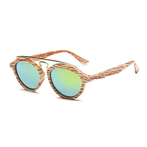G&T European Unique Style Personality Lady Colorful Lens Wayfarer - In That Fold Half Sunglasses