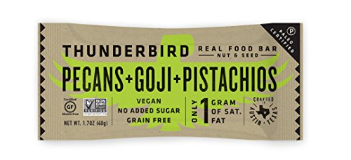 Almond Pecan Pie (Thunderbird Paleo and Vegan Real Food Bars - Pecans Goji and Pistachios - Box of 15 no Added Sugar Gluten-Free Fruit and Nut Bars)