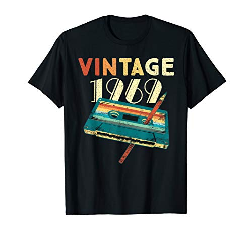 Vintage 1969 Music Cassette 50th Birthday Gifts 50 Years Old ()