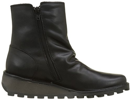 Mong Oil Boot London Suede FLY Black Women's nz0Exfa