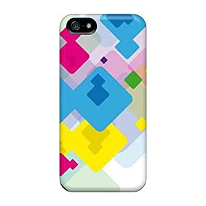 pc Case Cover Compatible For Iphone 5/5s/ Hot Case/ Color Blocks