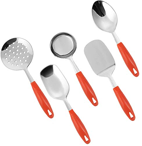 KRZONE Stainless Steel Serving Spoon Set  5pcs