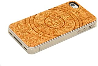 product image for CARVED Clear Cherry Wood Case for iPhone 4/4S - Aztec Calendar (CC1K-E-AZTEC)
