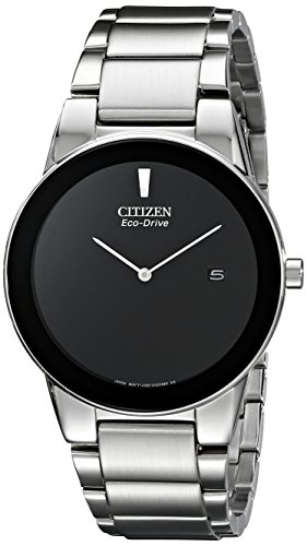 Citizen Mens Black Dial Watch - Citizen Men's Eco-Drive Axiom Stainless Steel Watch, AU1060-51E
