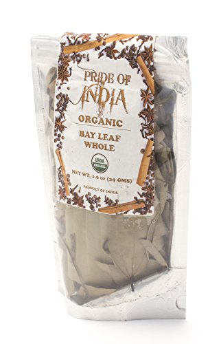Pride Of India - Organic Indian Bay Leaf Whole, 1oz (28gm) ()