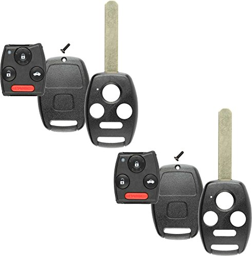 Cases Gut - Discount Keyless Replacement Uncut Key Shell and Gut Case and Pad Compatible with KR55WK49308, MLBHLIK-1T, N5F-S0084A (2 Pack)