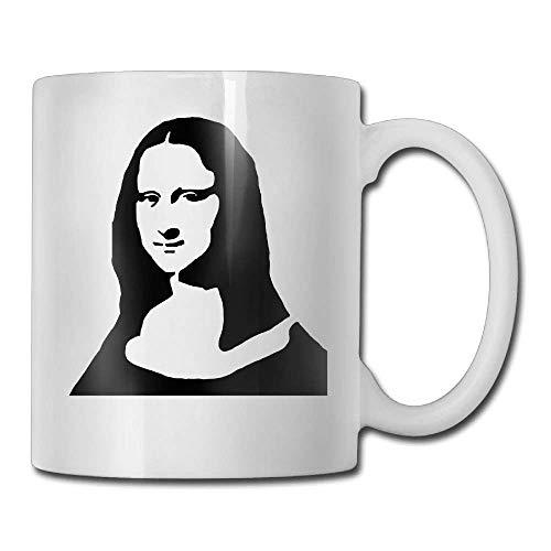 Smile Mona Painting Lisa - PIHJE mugs NEW Mona Lisa Smile Painting Mugs Cool Ceramic Coffee Tea Cups, Double-side Printing, 11oz