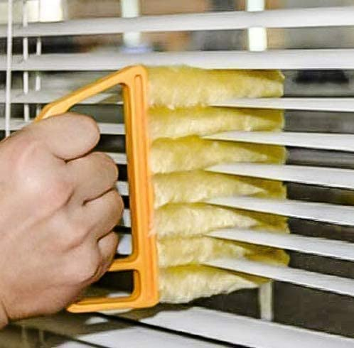 Kikunum Blind Cleaner Tool, Mini Blind Duster Brush, Dust Clean Venetian Blind Brush, Window Air Conditioner Duster, Dirt Cleaner, Housework Tool