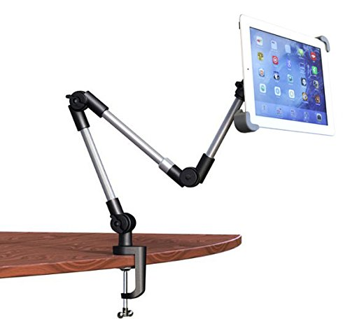 Logo Reclining Recliner - LapWorks Armbot Bed and Desk Mount with Exclusive Free Turning Base & Quick Attach Tablet Holder for iPads & Tablets for Easy and Relaxed Viewing in Any Position