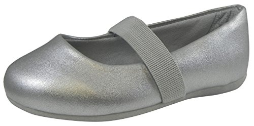 Pampili Girl's Silver Ballerina Flats 21 EU/ 4 M US