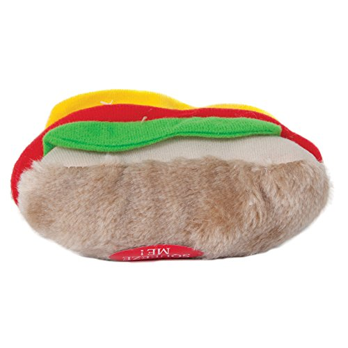 - Aspen Pet Products Soft Bite Hot Dog Toy, Medium
