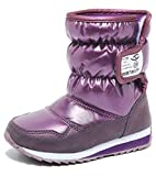 Boys Snow Boots Winter Waterproof Slip Resistant Cold Weather Shoes (Toddler/Little Kid/Big Kid)-3M,Purple