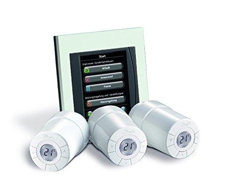 Couleur blanc 014G0500 Danfoss Link Kit de d/émarrage contient 1/r/égulateur central et 3/thermostats Connect blanc Lot de 4