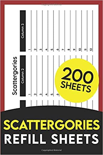 Scattergories Refill Sheets 200 Paper Sheets For Playing Scattergories Board Game Publisher Awesome Colorful 9798666780749 Amazon Com Books