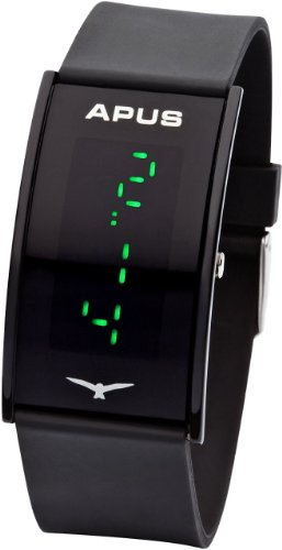 APUS Gamma Black Green AS-Ga-BG LED Watch Very Light, Watch Central