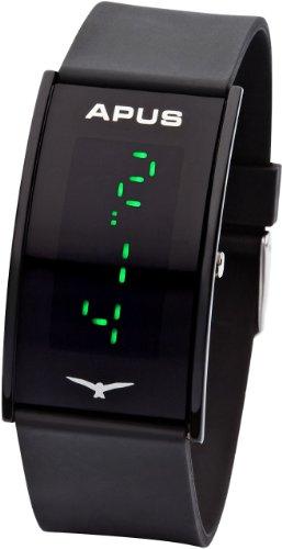 APUS Gamma Black Green AS-Ga-BG LED Watch Very Light, Watch Central