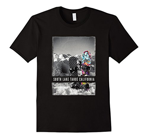 South Lake Tahoe T Shirt Skiing Adult Kids Apparel - Tahoe Lake Heavenly