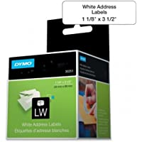 SANFORD 30251 LabelWriter Address Label - 3.50 Width x 1.12 Length - 130 / Box - Rectangle - 130/Roll - Paper - Direct Thermal - White / 30251DYMO /