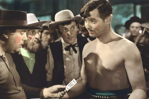 Clark Gable in Honky Tonk Bare Chested colorized playing cards 24x36 Poster from Silverscreen