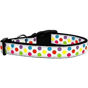 Mirage Pet Products 125-109 MD White Multi-Dot Dog Collar, Medium Click on image for further info.