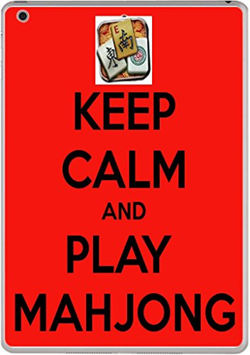 Keep Calm and Play Mahjong Vinyl Decal Sticker Skin by Debbie's Designs for iPad Air
